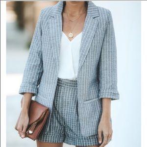 Vici Grey and White Striped Blazer! Never worn!